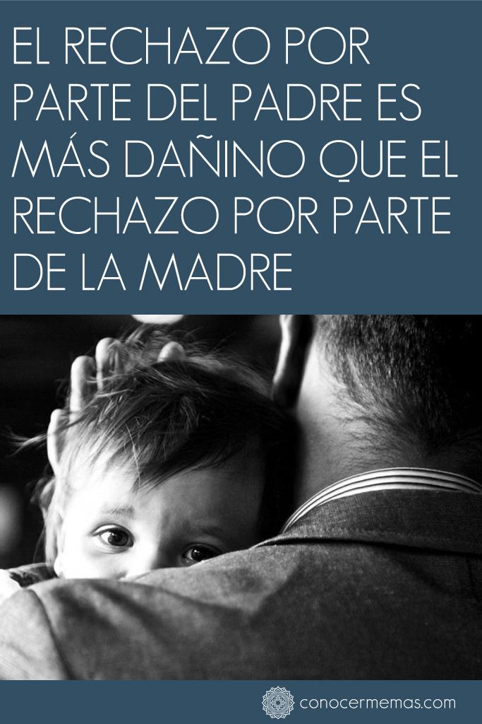 El rechazo por parte del padre es más dañino que el rechazo por parte de la madre