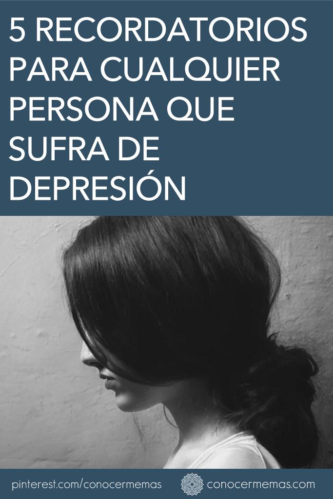 5 Consejos para cualquier persona que sufra de depresión