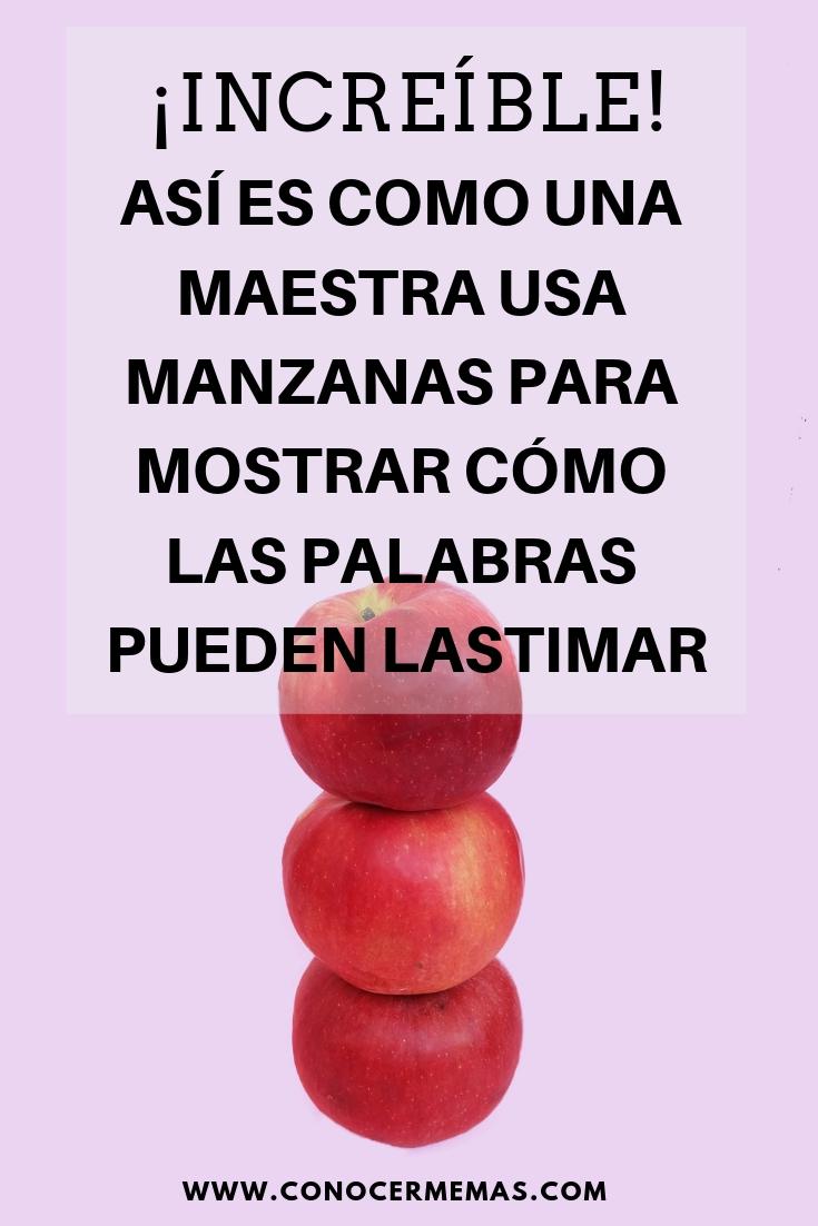 Así es como una maestra usa manzanas para mostrar cómo las palabras pueden lastimar