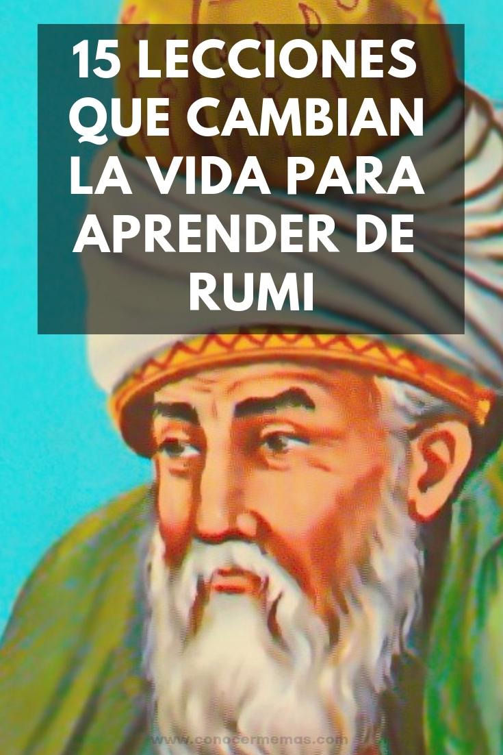 15 Lecciones que cambian la vida para aprender de Rumi