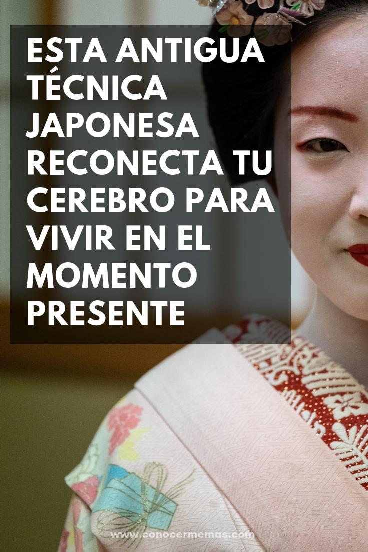 Esta antigua técnica japonesa reconecta tu cerebro para vivir en el momento presente