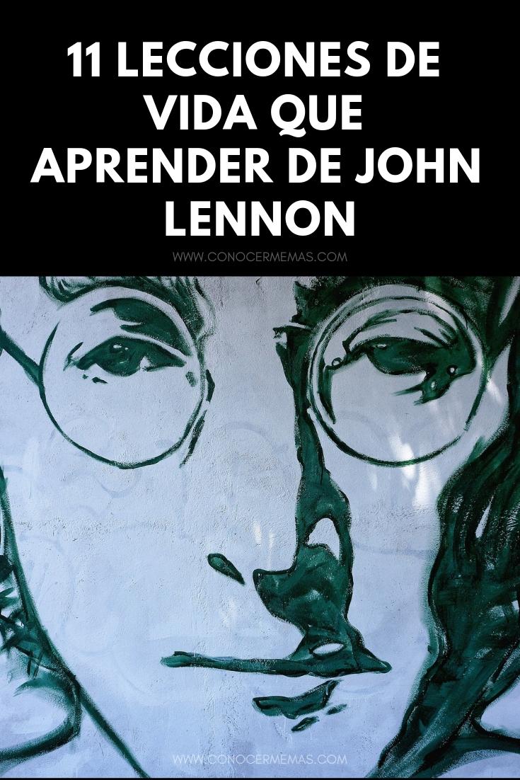 11 Lecciones de vida que aprender de John Lennon