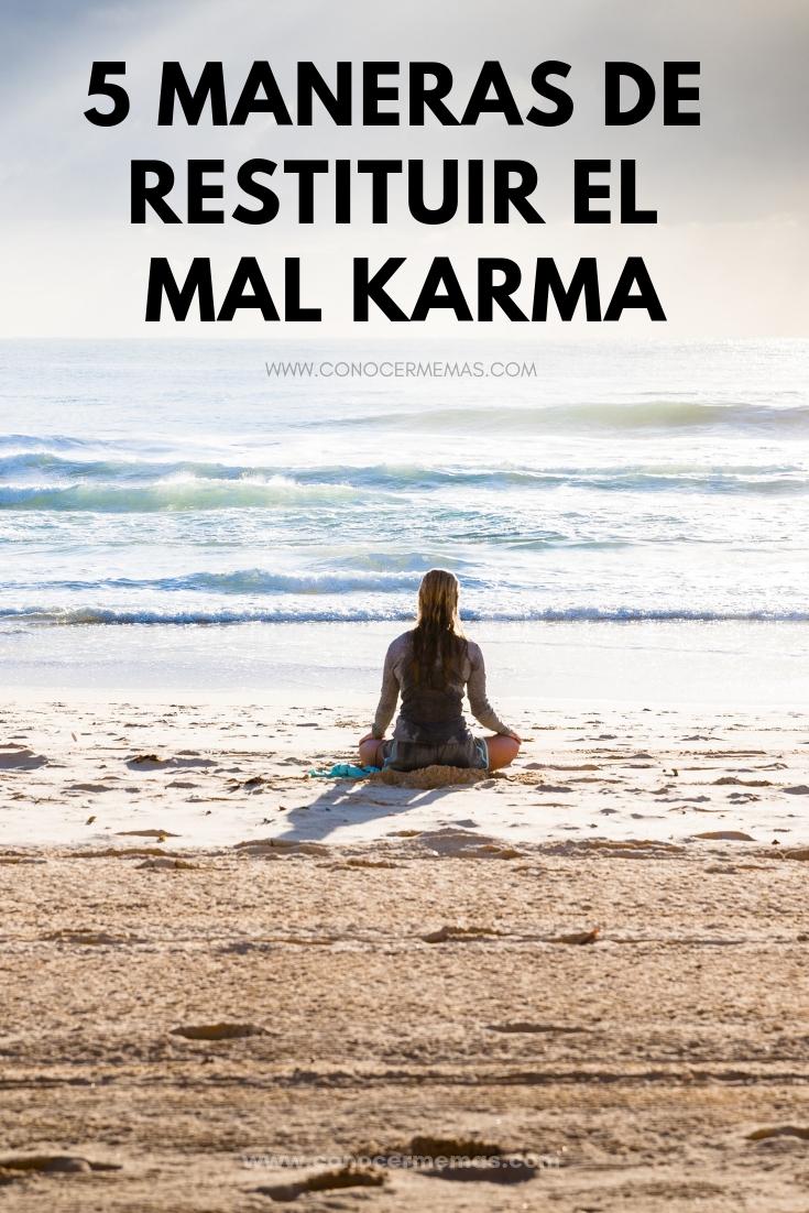 5 maneras de restituir el mal karma
