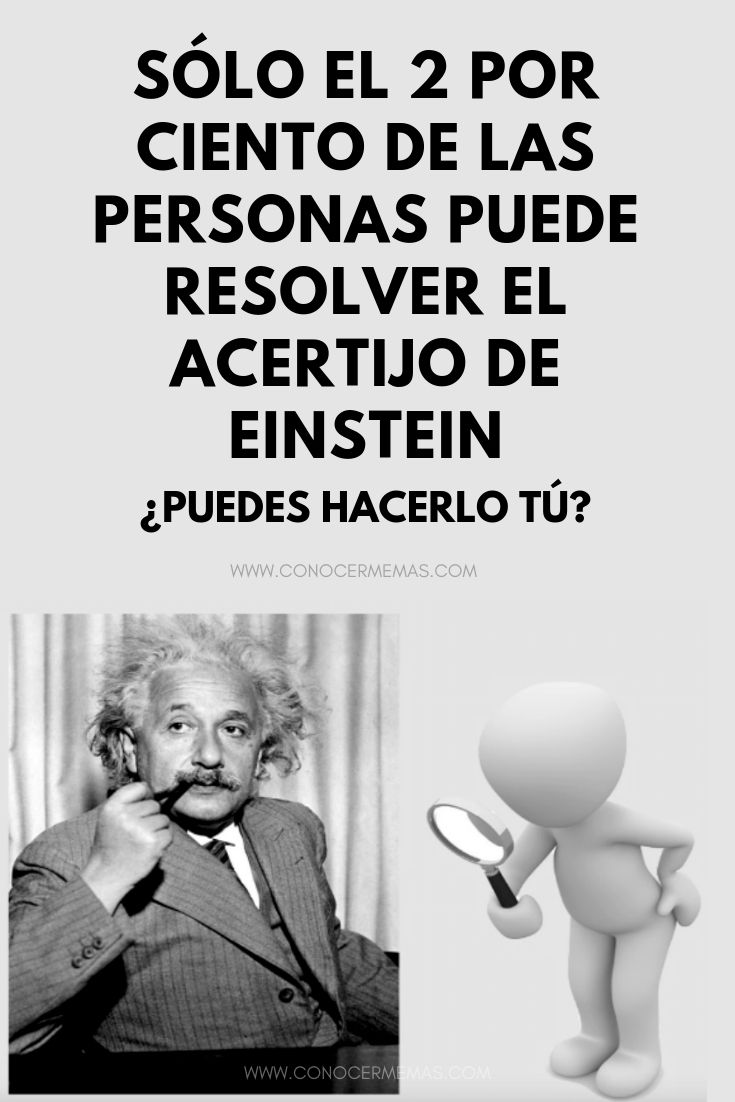Sólo el 2 por ciento de las personas puede resolver el acertijo de Einstein, ¿puedes hacerlo tú?
