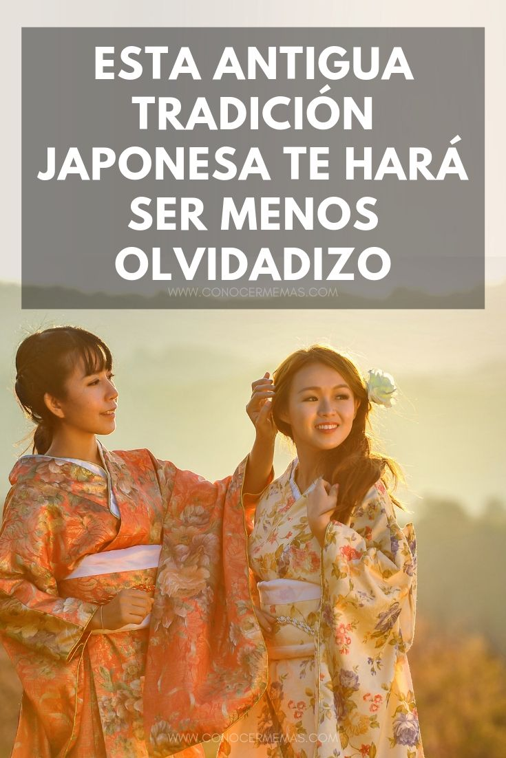 Esta antigua tradición japonesa te hará ser menos olvidadizo
