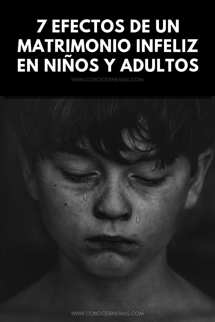 7 Efectos de un matrimonio infeliz en niños y adultos